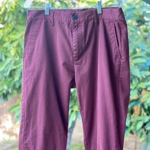 Red RVCA Chino Pants Size 33